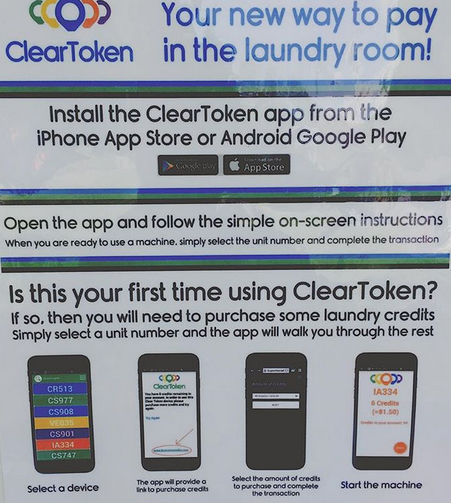Clear Token The Clothes Spin